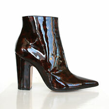 MAISON MARTIN MARGIELA patent leather tortoise shell pointed toe boots 39.5 NEW