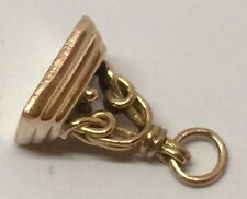 Antique Victorian 9ct 9k Yellow Gold Watch Fob Charm Seal Pendent