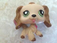 Littlest Pet Shop RARE Cocker Spaniel Dog Puppy #1963 Heart Valentine Green Pink