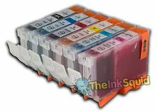 6 Canon Pixma CLI-8 Chipped Compatible Ink Cartridges