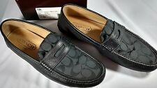 Coach Men's  Black Neal Signature Loafer Size 11, with box, excellent  condition