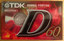 NEW & SEALED TDK D60 MINUTE CASSETTE TAPE