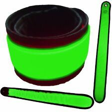 2 suitable for Bracelet LED Snap Hi-Go ad High Visibility race and cycling GREEN