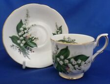 A DUCHESS 'LILY OF THE VALLEY' TEA CUP AND SAUCER