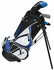 TODDLER KIDS Left Hand GOLF CLUB SET 4Pc Blue Black Bag Complete Age 3-5 Yr NEW