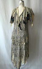 POCAHONTAS BITTED, FEATHERED FRINGE VINTAGE DRESS PERFECT COACHELLA BURNING MAN
