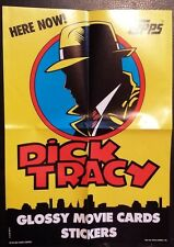 1990 TOPPS DICK TRACY TRADING CARDS PROMO POSTER NICE WALT DISNEY CO