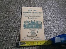 1947 New York New Haven and Hartford Railroad Co Travel Schedule Locomotive VF