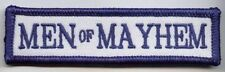 Men of Mayhem embroidered cloth patch.  A011201