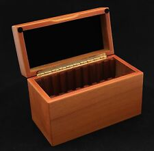 WOOD BOX TO HOLD 10 GSA COIN SLABS, CHERRY FINISH