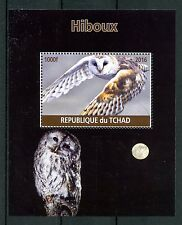 Chad 2016 CTO Owls 1v M/S Hiboux Birds of Prey Stamps