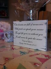 Distressed Personalised Shabby Wedding Sign Chic Gift Memory Table