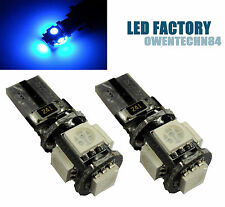 20X T10 194 168 W5W 5-SMD 5050 LED CANBUS ERROR FREE Wedge Dome LIGHT Blue #OE