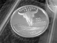 2007 S SILVER MONTANA STATE  QUARTER FROM SILVER PROOF SET