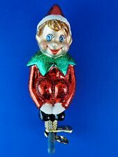 Pixie Elf Clip Old World Christmas Ornament Glass Blown Tree Fairytail NWT 24154