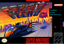 "Super Nintendo Snes   F-ZERO     Box Cover Photo Poster 8.5""x11""  NO GAME"