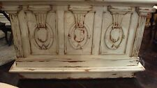 Charleston Serving Station Bar Counter Oak White Distressed Wine Storage