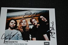 MEGADETH signed Autogramm 13x18 cm In Person komplette Band DAVE MUSTAINE rar!!