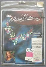 Bucilla Silk Ribbon Embroidery Wearable Transfer Kit Sweet Dreams No. 33554