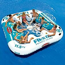 NEW! 8 person Inflatable Floating Party Island River Lake Beach Pool Water Raft