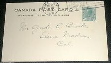 1925 Canada Postcard with Vancouver Exhibition Cancellation Stamp