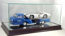 Mercedes-Benz Racing Transporter Glass and Wood Display Case for 1:18 CMC1212
