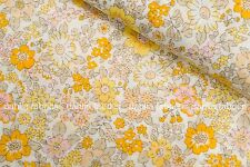 Lecien Memoire a Paris Cotton Lawn Yellow Orange Floral Japanese Fabric BTY
