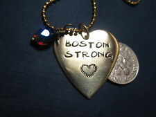 """ Boston Strong"" with heart necklace…"