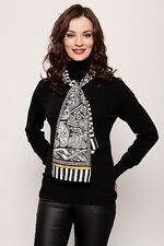Patrick Francis Celtic Stripe Silk Scarf (Black /Gold)