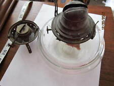 Kerosene antique lamp Scovill,Queen Ann,spare VENUS burner,rare tube in center!