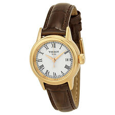 Tissot Carson White Dial Brown Leather Ladies Watch T0852103601300