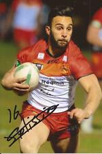 CATALANS DRAGONS RUGBY LEAGUE * ELOI PELISSIER SIGNED 6X4 ACTION PHOTO+COA