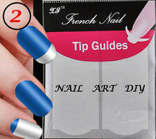 17 Modelli Adesivi per French Manicure-French Nail Tip Guides-61mm X 63mm !!!