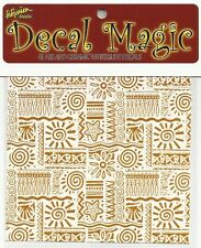 "Mini 22k Ultra Luster Gold Decals ""Mola 4"" for Glass Fusing Projects"