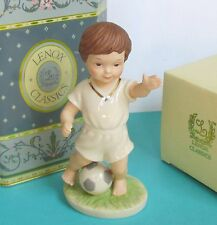 Lenox Classics Barefoot Blessings LITTLE M.V.P. Soccer Boy Figurine NEW in box