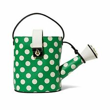 Betsey Johnson KITCHI WATERING CAN Top Handle Bag BJ46730 GREEN, WHITE POLKA DOT