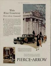 1929 PIERCE ARROW AUTO MOTOR CAR AD / ULTRA-MODERN STRAIGHT EIGHT