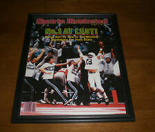 1983 PENN STATE NO. 1 AT LAST FRAMED COLOR SI PRINT