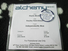 Hayley Hutchinson ‎– Independently Blue Alchemy Soho ‎Promo CDr UK CD single
