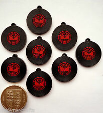 RED & BLACK RECORDS Craft Embellishments Charms Music Retro Rockabilly LP Bands