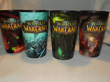 Complete Set Of 4 World Of Warcraft War Craft AM PM 32 Oz. Cups WOW Limited Ed.