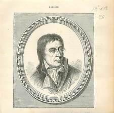 Jean-Baptiste Carrier Homme Politique FRANCE GRAVURE ANTIQUE OLD PRINT 1873