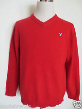 V Pullover AMERICAN EAGLE L (M/M) Wolle Baumwolle rot TIP TOP /G1