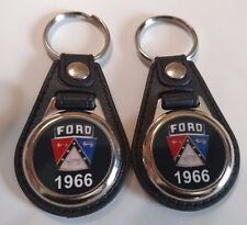 1966 FORD KEYCHAIN 2 PACK FOR GALAXY F100 THUNDERBIRD FAIRLANE  FALCON black
