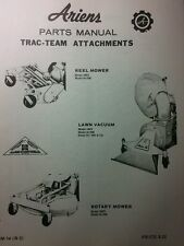 Ariens Trac-Team Implements Parts Manual 8pg Rotary Mower Reel Lawn Vacuum PM-14