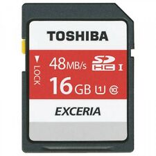 Toshiba Lot of 2 x 16GB = 32GB SD SDHC SDXC Class 10 48MB/s UHS-I Memory Card