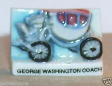 VOITURE HIPPOMOBILE CARROSSE GEORGES WASHINGTON COACH FEVE 2D PORCELAINE
