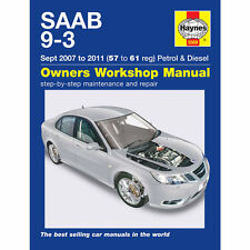 Saab 9-3 2007-11 (57-61 Reg) 2.0 Petrol 1.9 Diesel Haynes Workshop Manual
