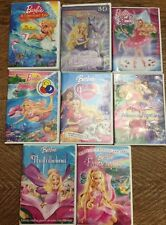 Barbie lot 8 DVDs Mermaid Pink Shoes Magic Of Pegasus Diamond Castle Fairytopia