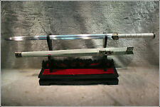 "Hand Forge Chinese Sword ""Han Jian ""(劍) High Carbon Steel Sharp Alloy Fitting"